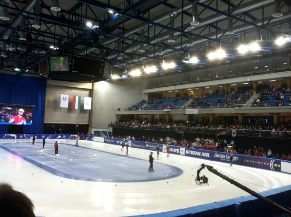 The arena went ballistic when the Hungarian team took the ice