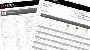 Nutrition plan in PDF format